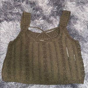 Crop sweater tank